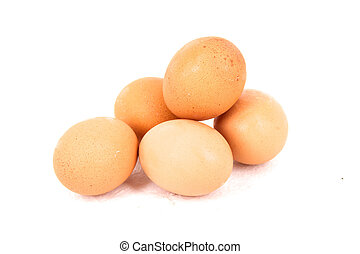eggs isolated on white background close up