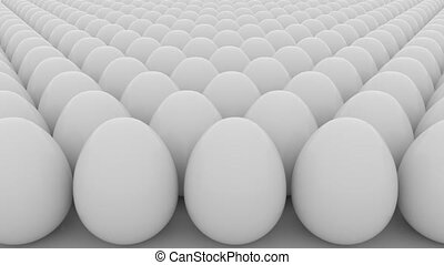 Eggs loopable animation. Order, start, equality or sameness...