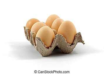 Eggs on a tray