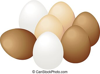 eggs on a white background.