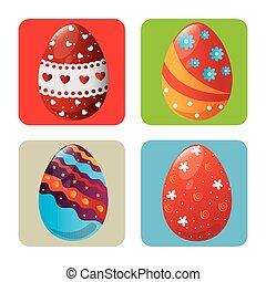 eggs painted easter celebration
