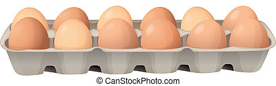 eggs - illustration of eggs on a white background