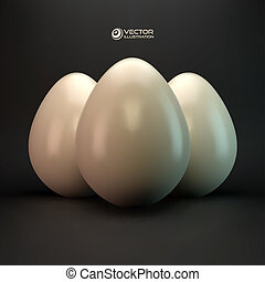 Eggs. Vector illustration.