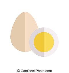 Eggs Vector Illustration in Flat Style Design.