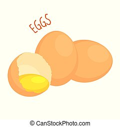 Eggs vector illustration isolated