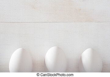 Eggs with copy space