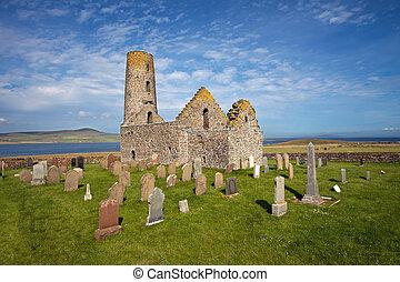egilsay, magnus, st, orkney, igreja