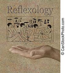 egipcio, reflexology, jeroglíficos