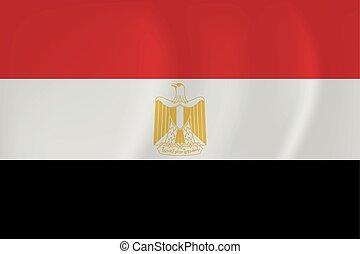 egipt, falując banderę