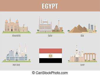 egipto, ciudades