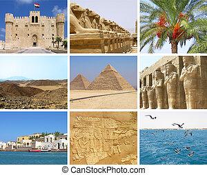 egipto, collage, viaje