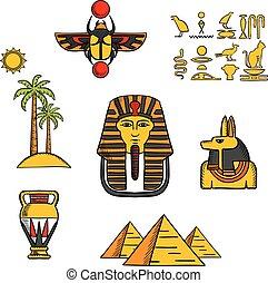 egipto, cultura, iconos de viajar