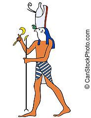 egipto, dios, antiguo, -, horus