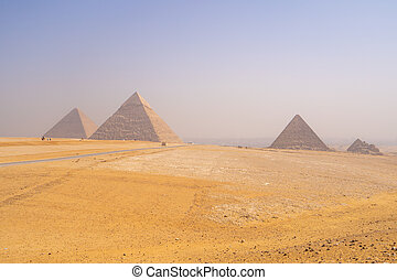 egipto, el cairo, pirámides de giza