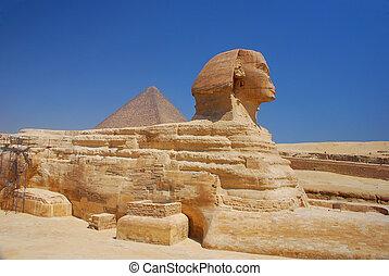 egipto, esfinge, vista lateral