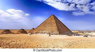 egipto, gran pirámide, giza.