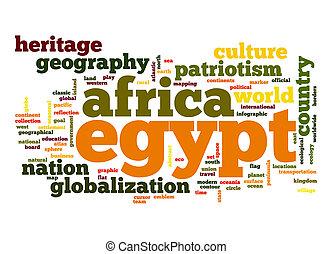 egipto, palabra, nube