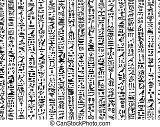 egipto, patrón, seamless, diseño, jeroglíficos, su