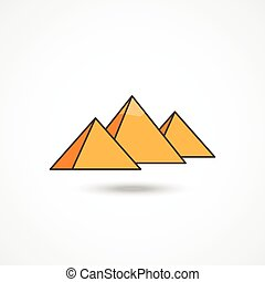 egipto, pirámides, icono