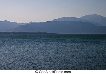 Egirdir lake with mountains in Turkey