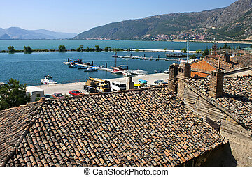 Egirdir town with Egirdir lake, Turkey