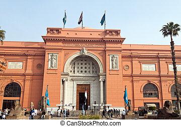 egito, exterior, cairo., museum., egípcio