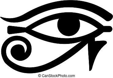 egito, olho, horus