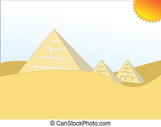 egito, piramides