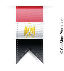 egitto, illustrazione, stendardo bandiera