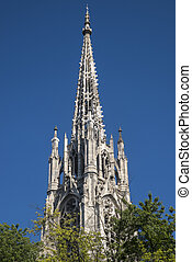 Eglise Saint Maurice in Lille - The spire of Saint Maurice ...