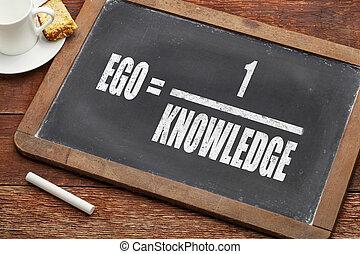 ego and knowledge concept (illustration of Albert Einstein ...