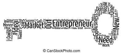 Ego and the Entrepreneur Word Cloud Concept Text Background