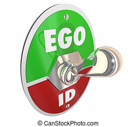 Ego Vs Id Toggle Switch Psychology Psyche 3d Illustration