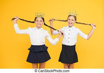 egoist concept. prom queen. childhood pride. education...