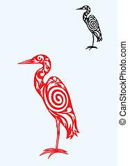 Egret art vector design