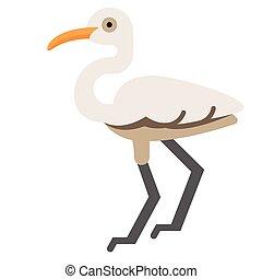 Egret flat illustration