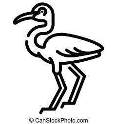 Egret Line illustration - Egret vector illustration in line...