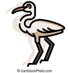 Egret LineColor illustration - Egret vector illustration in...