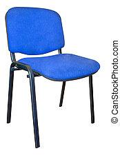 egy, alapvető, ruhaanyag, befedett, hivatal szék
