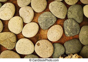 egy, csoport, közül, kő, képben látható, egy, emelet