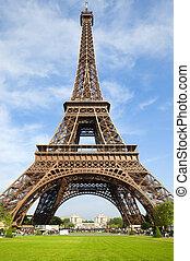 egy, diadalmenet, közül, zseni, párizs, város, közül, szerelmes pár