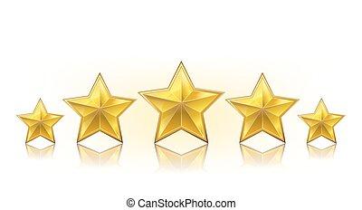 egy, evez, közül, arany-, gyakorlatias, csillaggal díszít, white