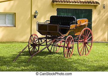 egy, finom, carriage., carriage.