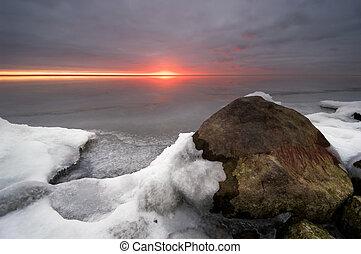 egy, hideg, nap, alatt, tél