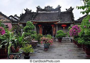 egy, pagoda, buddhista, hoi, vietnam