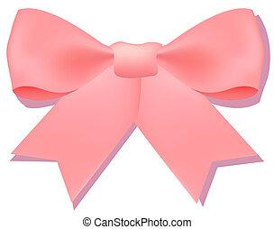 egy, rózsaszínű, bowknot