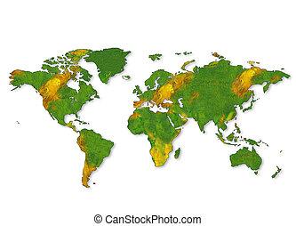 egy, térkép, közül, világ