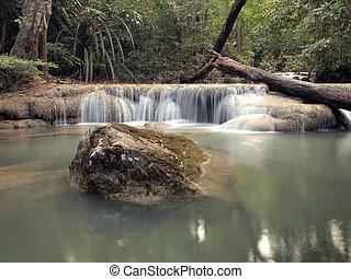 egy, természetes, vízesés