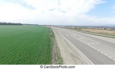 egy, zöld, mezőgazdaság terep