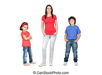 egyedülálló, gyerekek, anya
